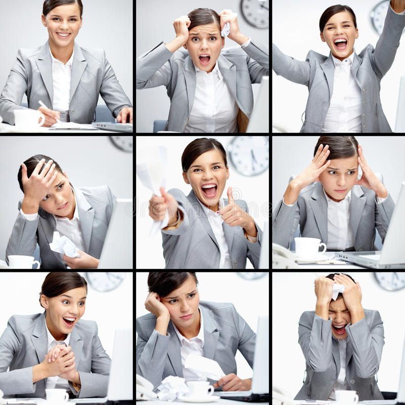 Different situations royalty free stock image