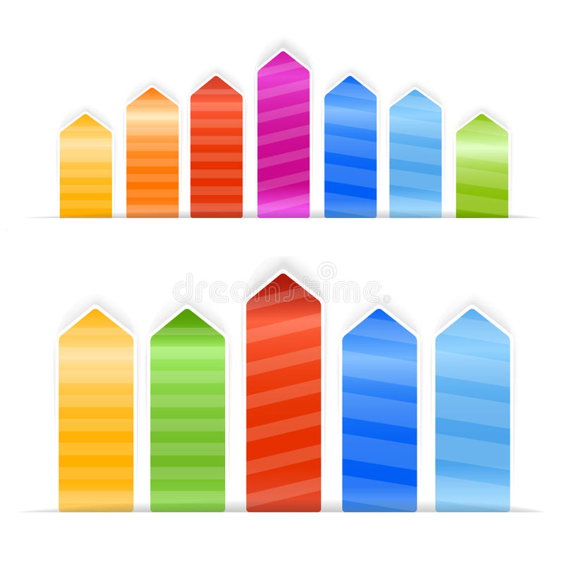 Download Different Size Color Arrow Stickers Stock Vector - Image: 23507138