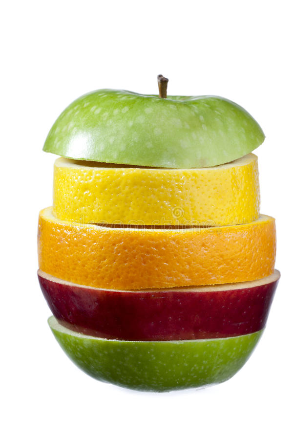 Different slices of fruit stock photos
