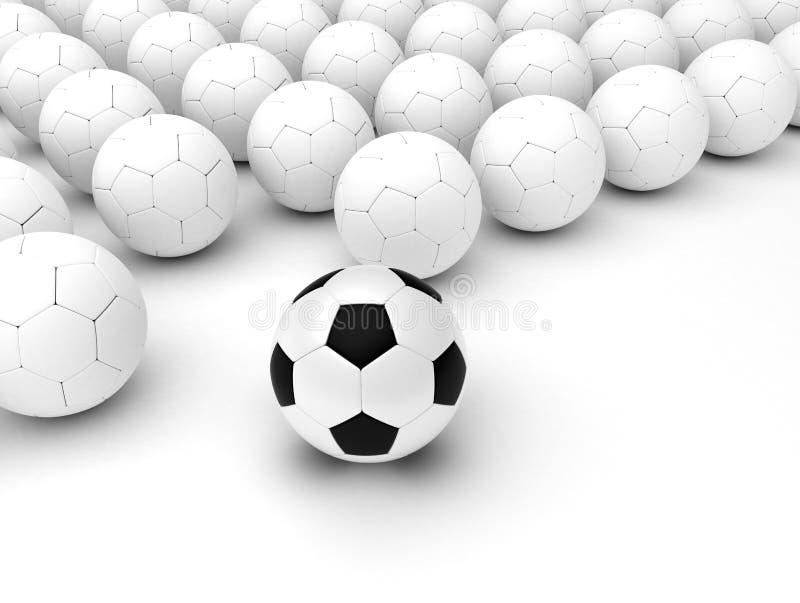 Different Soccer Balls vector illustration