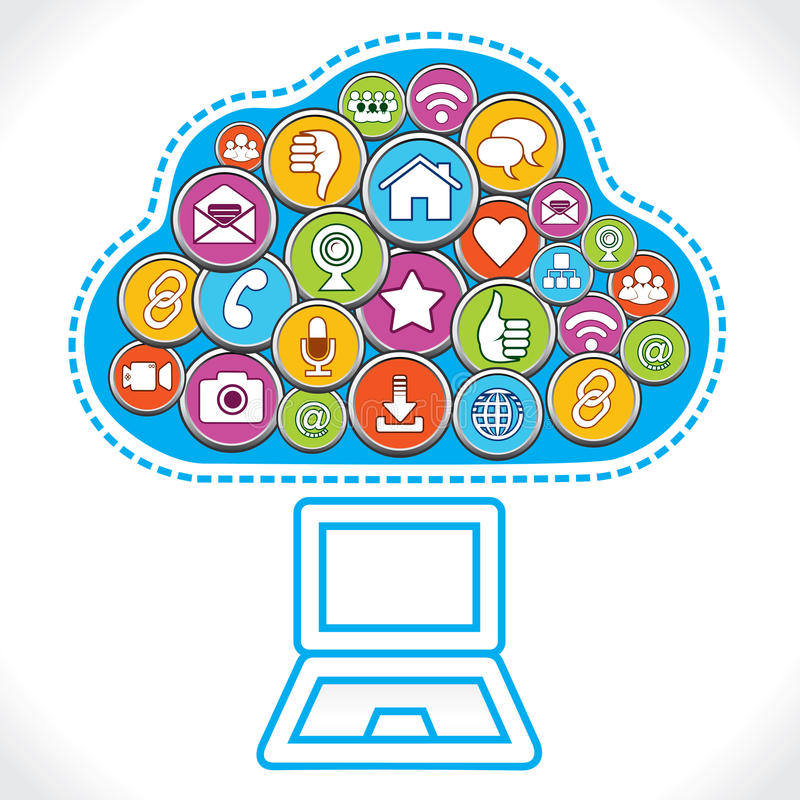 Download Different Social Media Icons Make Cloud Stock Vector - Image: 28126047