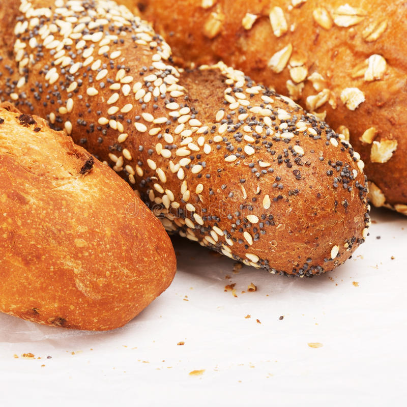 Different Sorts Of Bread royalty free stock photography