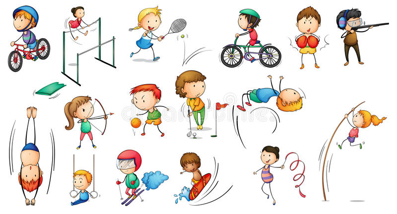 Different sports activities stock illustration
