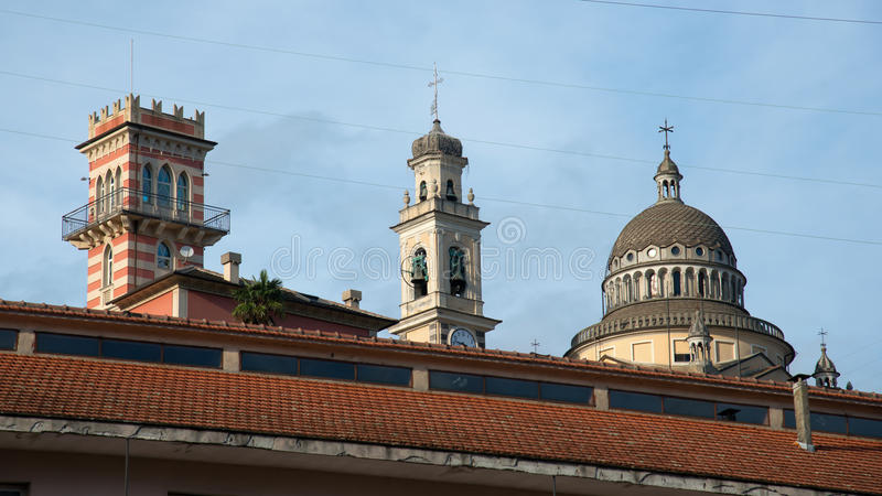 Different styles. Of architecture in a country's hinterland royalty free stock image