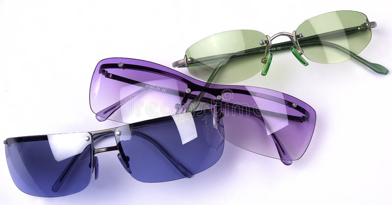 Different sun glasses isolated royalty free stock images