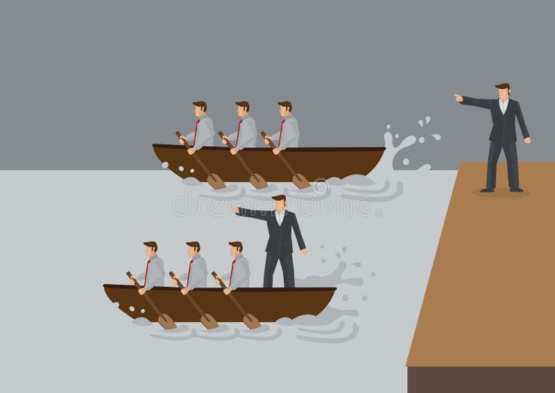Different Syles of Leadership Cartoon Vector Illustration vector illustration