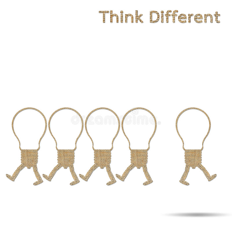 Different think vector illustration