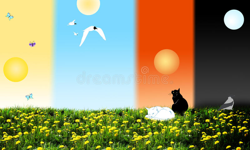 Download Different times of day stock illustration. Image of abstract - 32396108