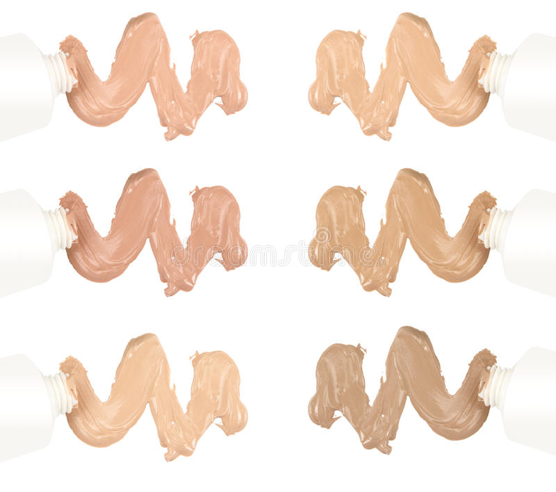 Different tones of foundation royalty free stock images