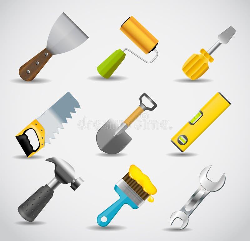 Different tools icon vector illustration set1 royalty free illustration