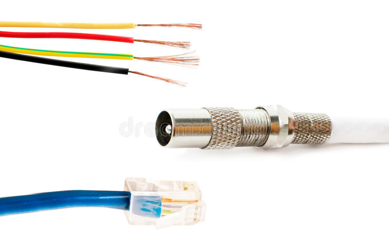 Different Types Of Adapters For Connecting Stock Photo - Image of ...