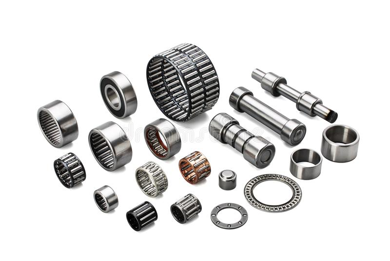 Different types of automotive bearings royalty free stock images