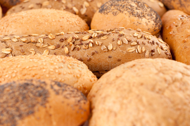 Different types of bread stock image