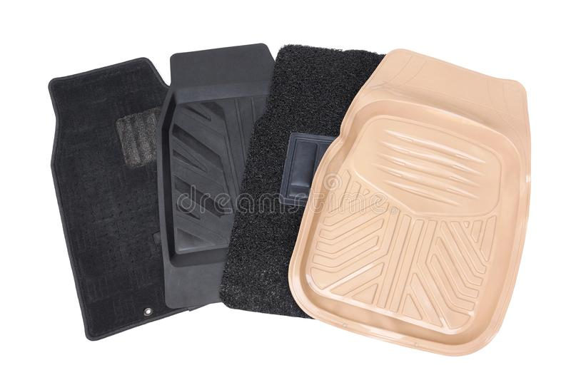 Different types of car mats royalty free stock photos