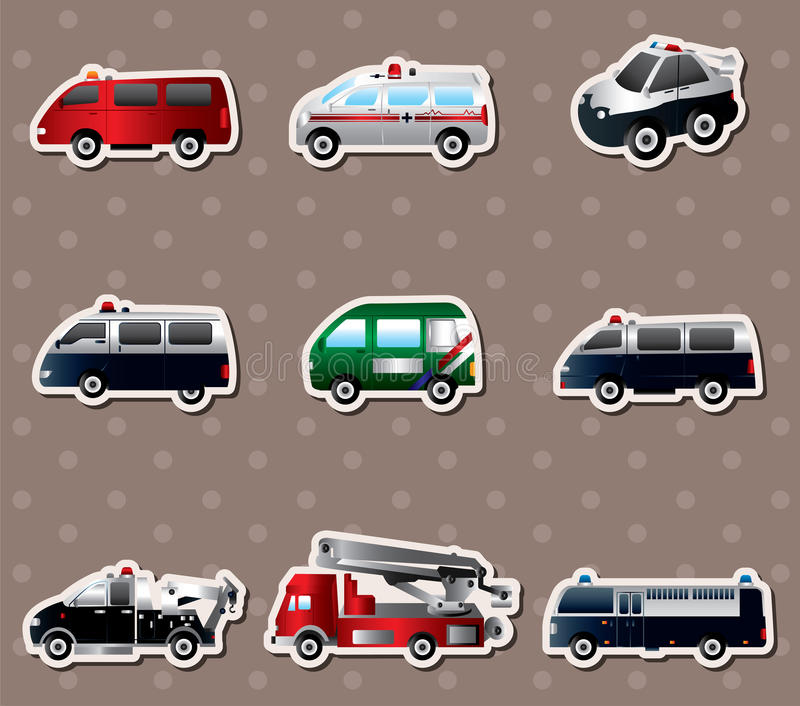 Download different types car stickers stock vector illustration of engine group 27523980