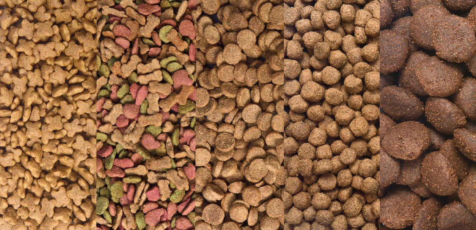 Different types of dog food.  royalty free stock photography