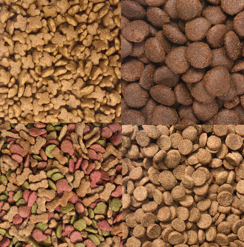 Different types of dog food.  royalty free stock image