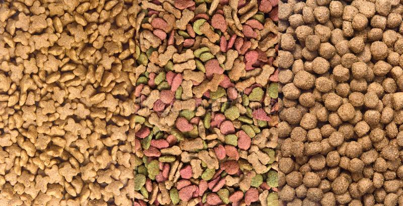 Different types of dog food.  stock photo