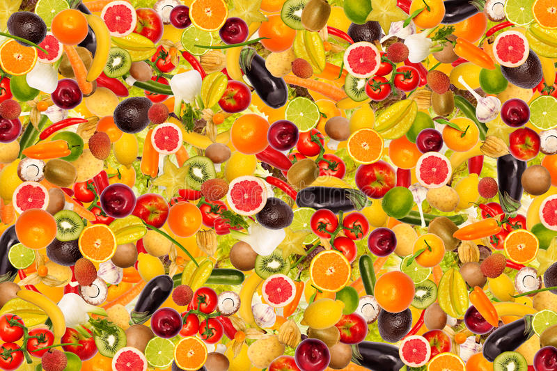 Download Different Types Of Fruit And Vegetables Stock Illustration - Image: 27888808