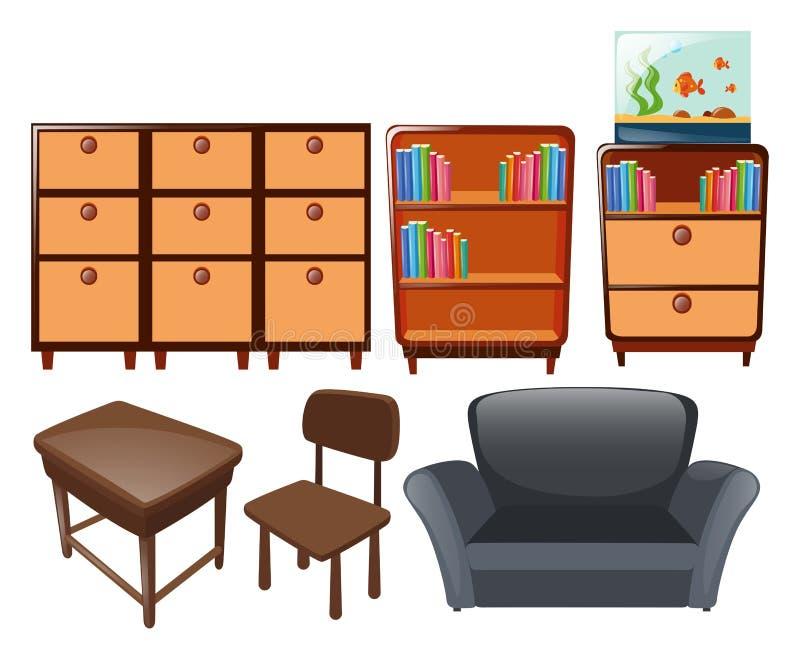 Different types of furniture. Illustration royalty free illustration