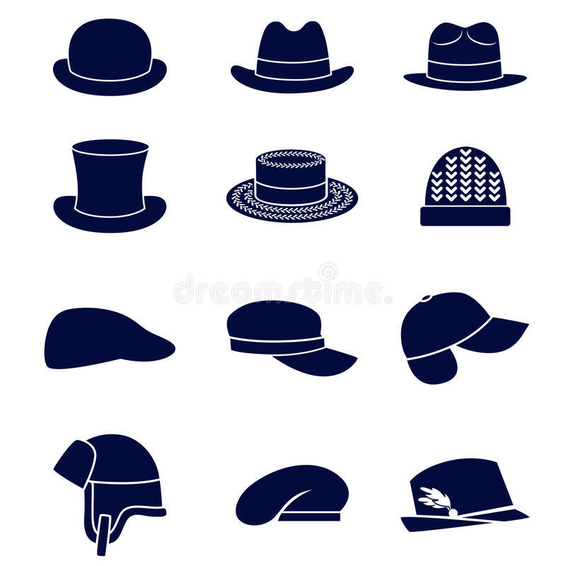 Free Different Types Of Men Hats Royalty Free Stock Photography - 45073967