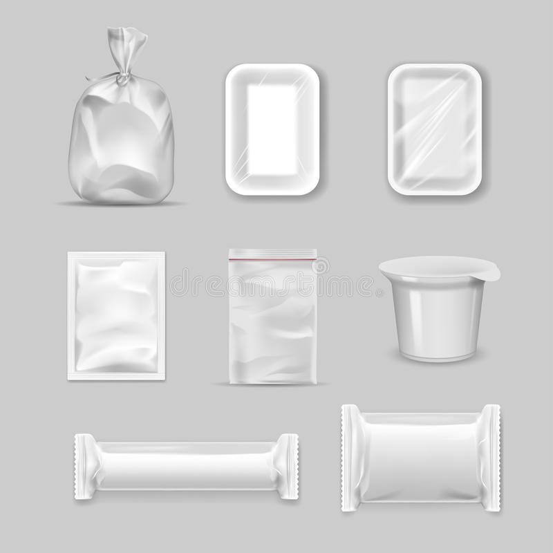Different types of packaging royalty free illustration