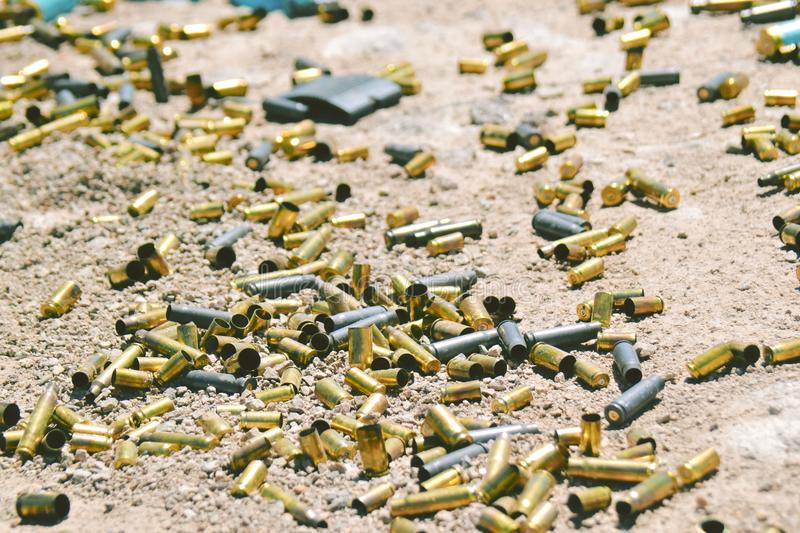Different type and size of bullets royalty free stock photo