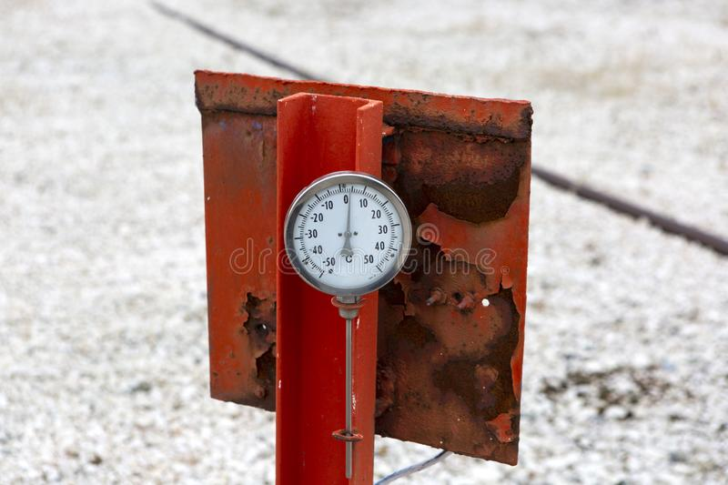 Different Types of Valves and Indicators in the Oil Industry. Equipment stock images