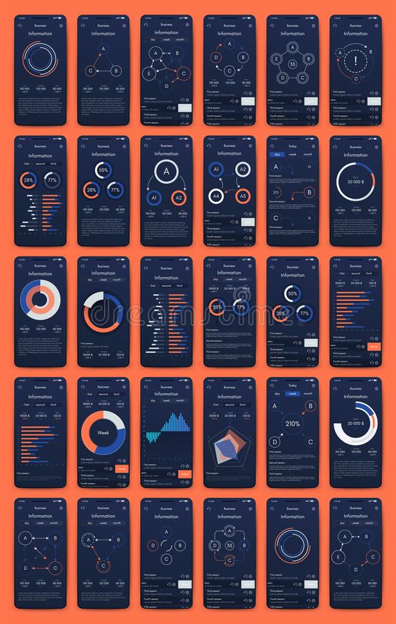 Free Different UI, UX, GUI Screens And Flat Web Icons For Mobile Apps Royalty Free Stock Photo - 160487105