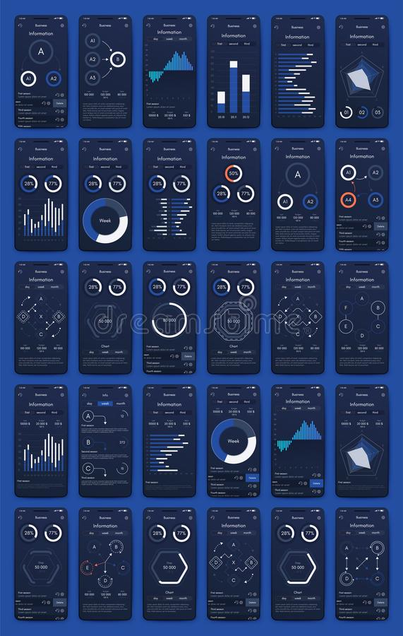 Free Different UI, UX, GUI Screens And Flat Web Icons For Mobile Apps Stock Photo - 160487160