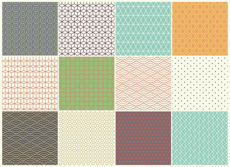 Different vector Seamless patterns Collection. Endless texture can be used for Wallpaper, Textile, pattern fills, web vector illustration