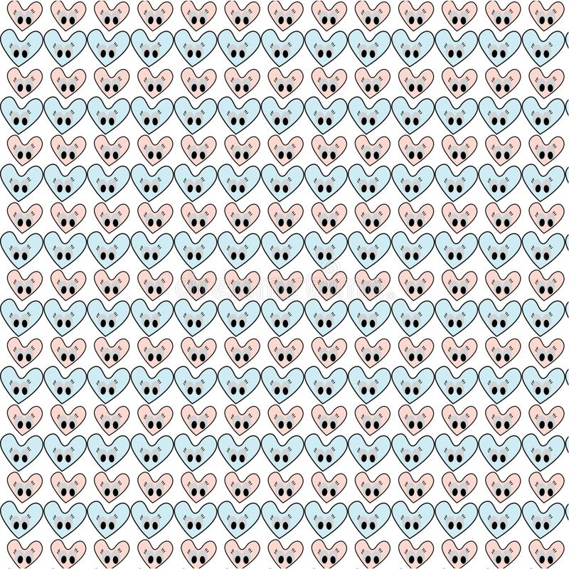 Different vector seamless patterns with swatch. Endless texture can be used for wallpaper, fills, web page background, surface t stock illustration