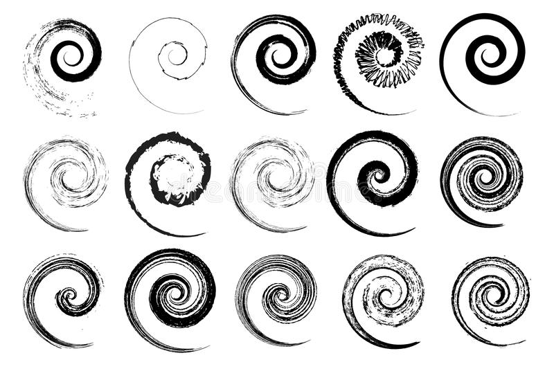 Different vector swirls for decorative use vector illustration