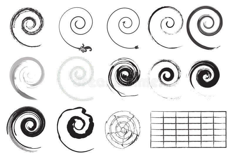 Different vector swirls stock illustration