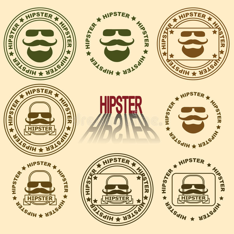 Different versions of the mark. Printing Impression. Different versions of the mark royalty free illustration