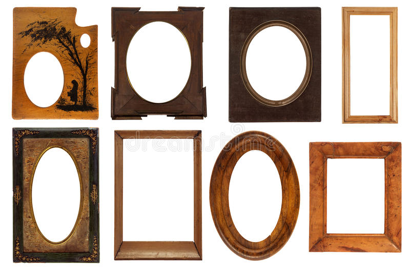 Different vintage frames stock images