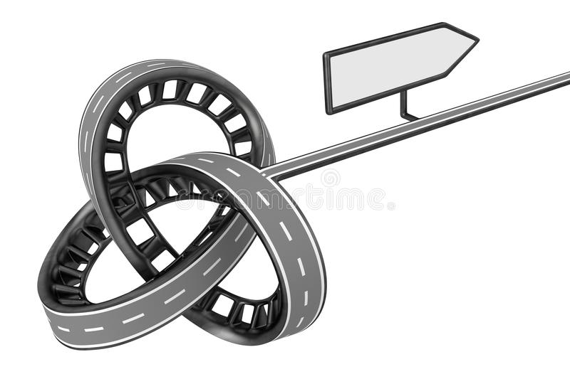 Download Different Way With Blank Sign Stock Image - Illustration: 32765601