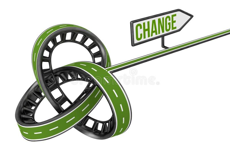 Download Different Way With CHANGE Sign Stock Photo - Image: 32768294
