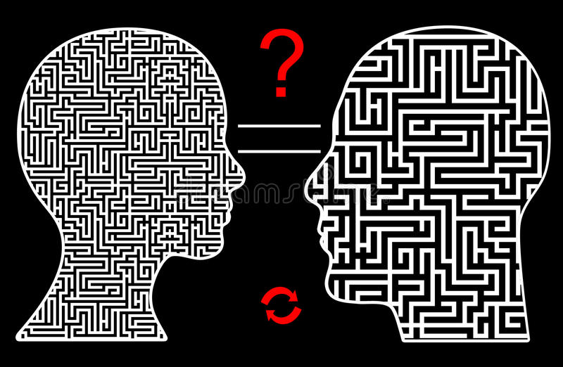 Different Way of Thought royalty free illustration