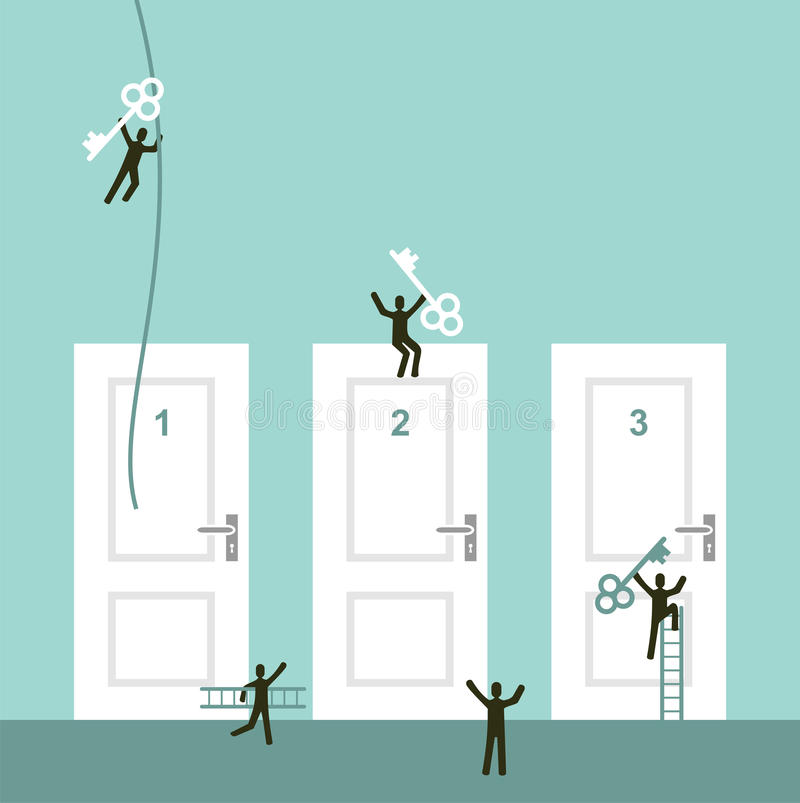 Different ways to success royalty free illustration