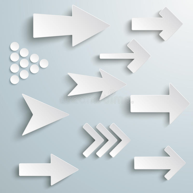 Free Different White Arrows Stock Images - 36903634