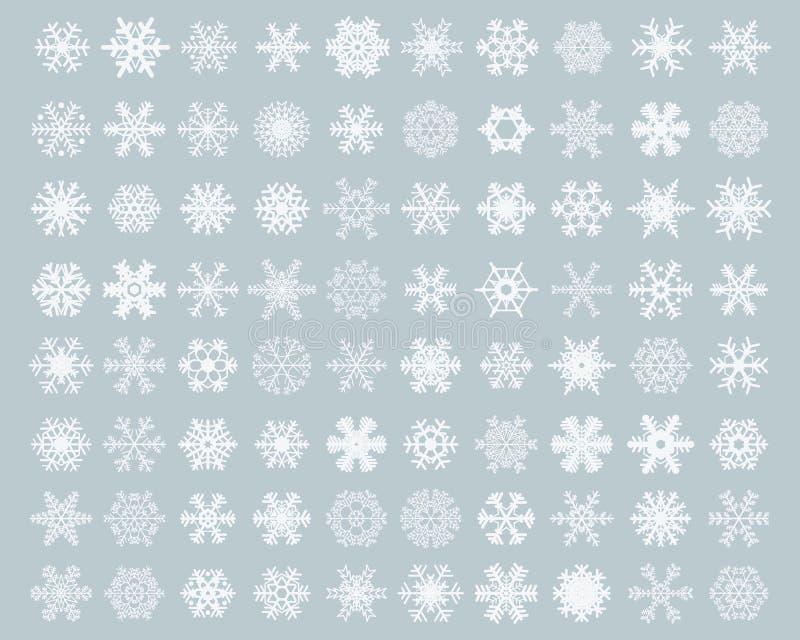 Different white snowflakes royalty free stock photo