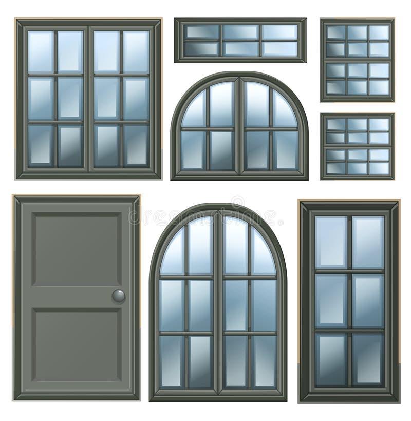 Different windows design royalty free illustration