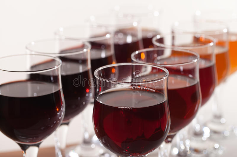 Different wines. royalty free stock images