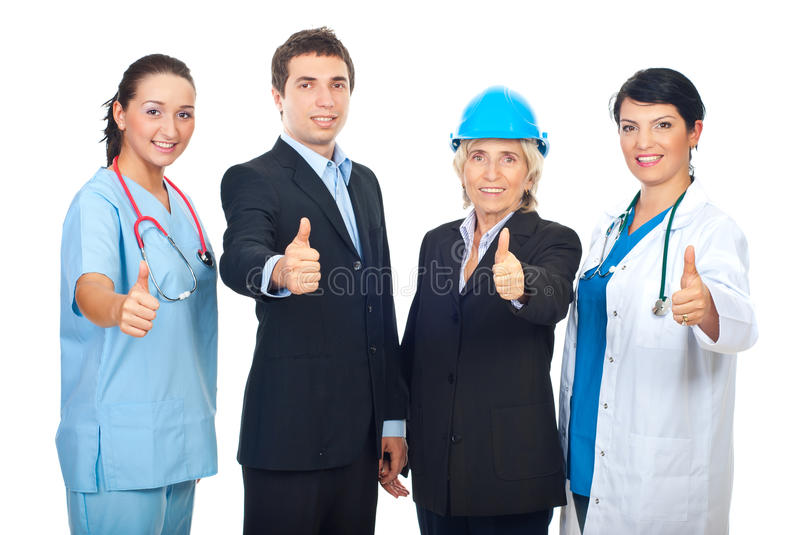 Download Different Workers Giving Thumbs Up Stock Image - Image: 16696849