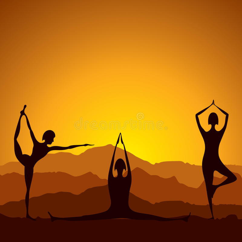 Different Yoga Women Figure Stock Images