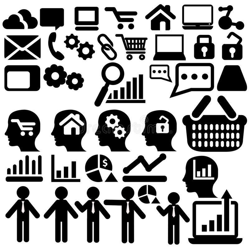 Differentes business icons. For collages over white background royalty free illustration