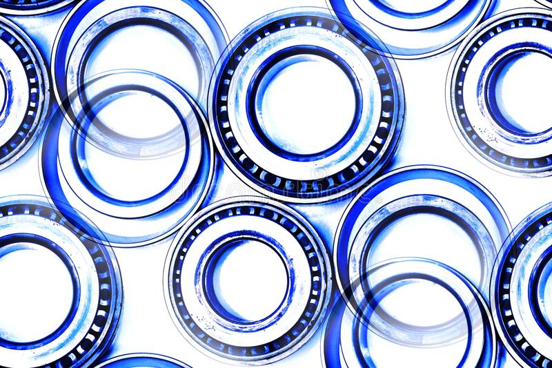Differential bearings used auto parts abstract stock images