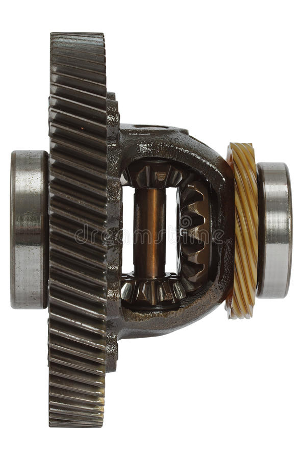 Differential of the gearbox, isolated on white background. Differential of the gearbox, isolated on a white background stock image