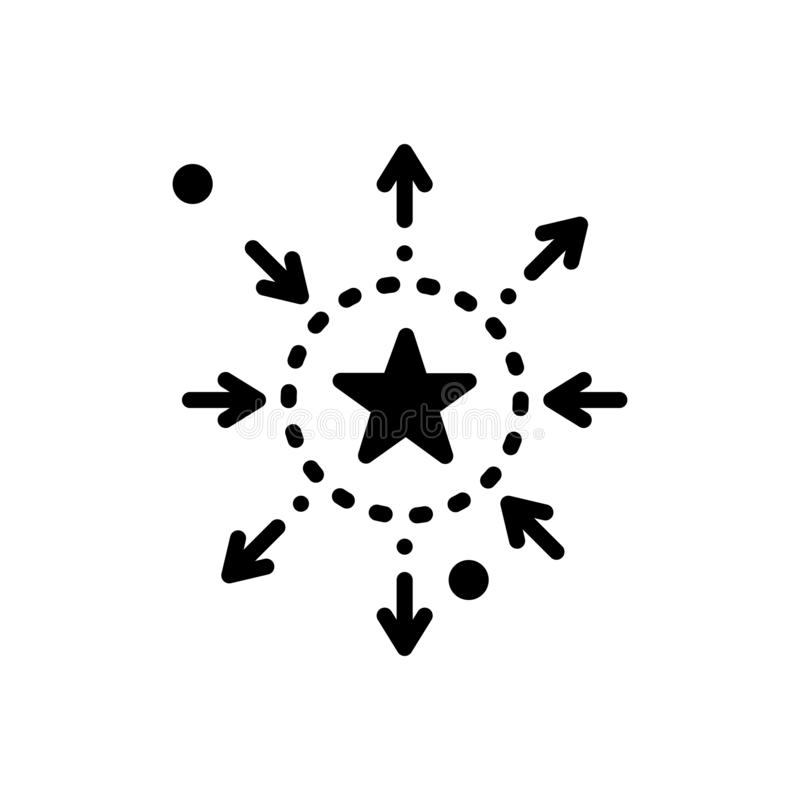 Black solid icon for Differentiation, discrimination and partiality. Black solid icon for Differentiation, favoritism, prejudice, miscellaneous, logo vector illustration